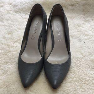 Aldo Matte Grey Heels